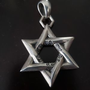 CH Chrome Hearts Star of David Silver Pendant